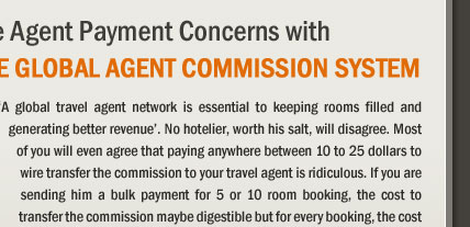 Eliminate Agent Payment Concerns with the Global Agent Commission System